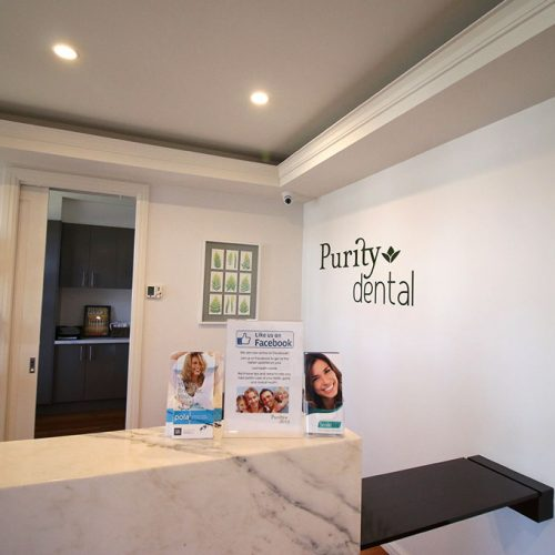Reception Area Purity Dental Mulgrave Vic